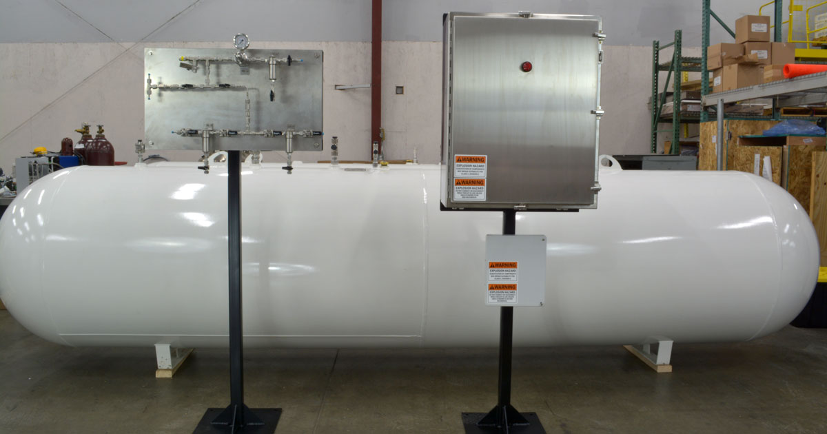 GPL 10000 odorant injection system with odorant tank